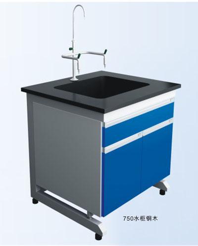 钢木单水池柜