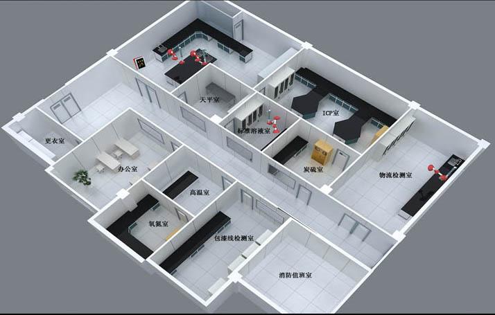 美顺达代工实验室三维效果图4