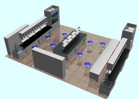 美顺达代工实验室三维效果图3